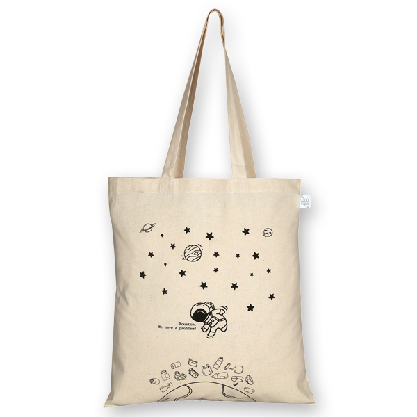 Cotton Tote Bag Houston we have a problem Natural-EcoRight