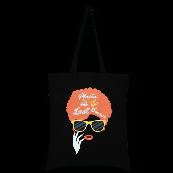 Cotton Tote Bag, Last Season - Black