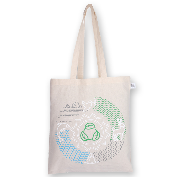 Cotton Tote Bag Lifecycle Natural-EcoRight