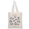 Cotton Tote Bag Save the dog Planet Natural-EcoRight