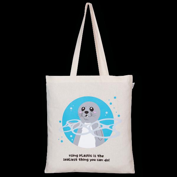 Cotton Tote Bag Seal Natural-EcoRight