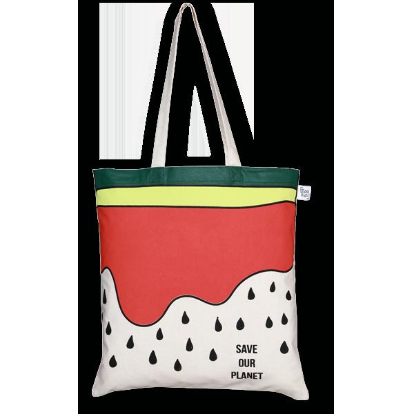 cd7113ddc58d Cotton Tote Bag, Watermelon - Natural - EcoRight