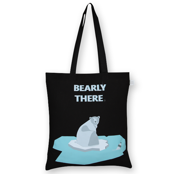 Cotton Tote Bag bearly there Black-EcoRight