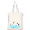 Cotton Tote Bag confused penguins Natural-EcoRight