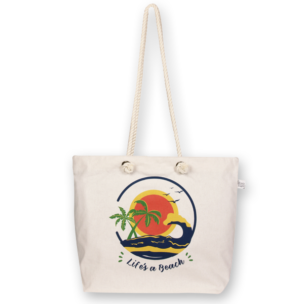 EcoRight Beach Tote Bag - Life s a Beach 1fdec10a66323