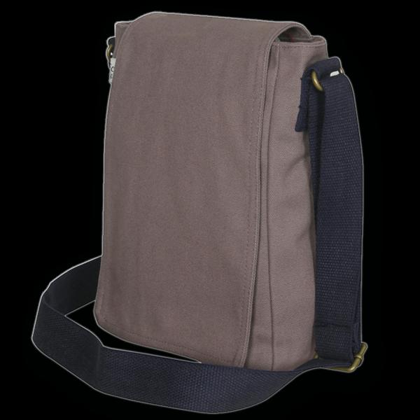 Canvas Cross Body Bag - Grey