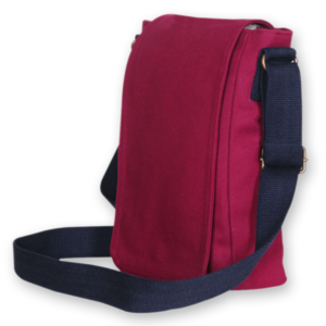 Canvas Cross Body Bag - Maroon