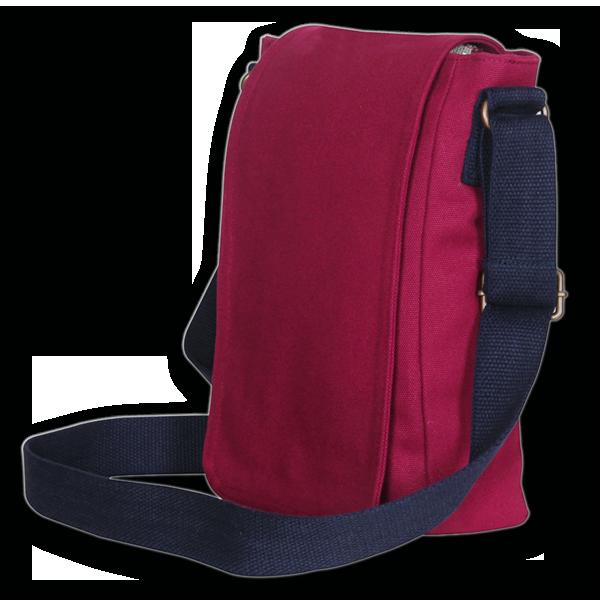 EcoRight Canvas Crossbody Bag – Maroon