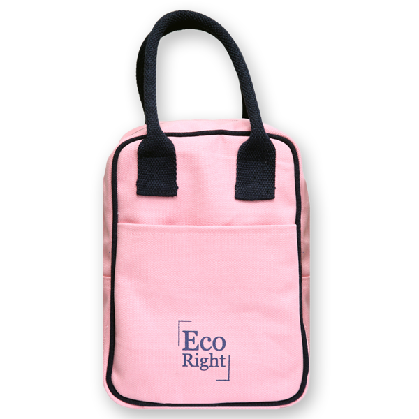 EcoRight Canvas Lunch Bag Pink