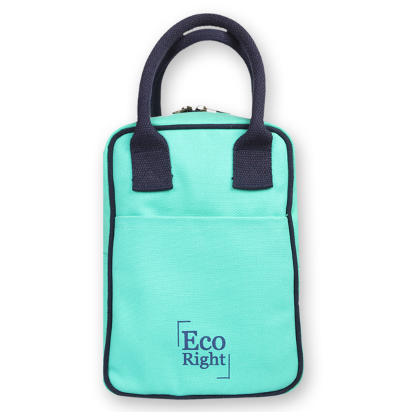 EcoRight Canvas Lunch Bag Turquoise