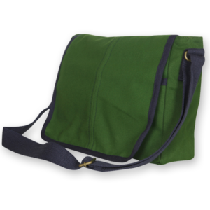 EcoRight Canvas Messenger Bag - Army Green