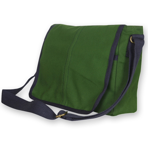 EcoRight Canvas Messenger Bag – Army Green