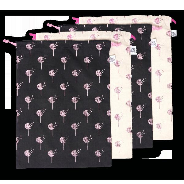 EcoRight Cotton Drawstring Bags Dandelions