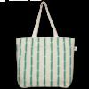 Juton Zipper tote bag jutton cotton pattern natural EcoRight