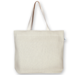 Juton Zipper tote bag white -EcoRight