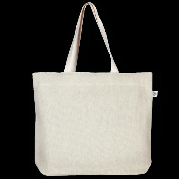 Juton Zipper tote bag white -EcoRight
