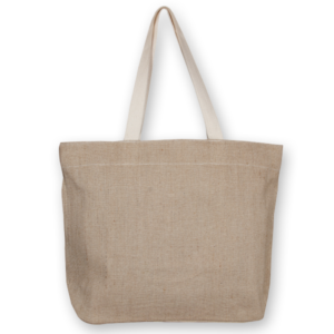 Juton Zipper tote bag natural EcoRight