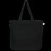 Juton zipper tote bag black ecoright