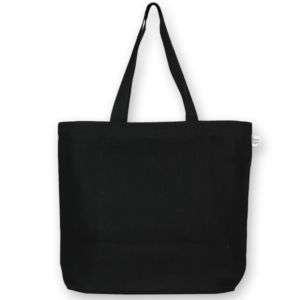 Juton zipper tote bag black ecoright