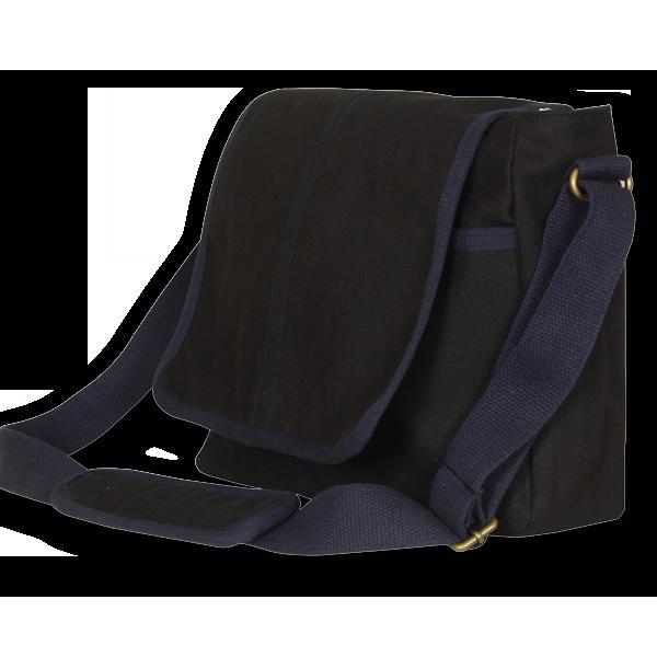 EcoRight Canvas Messenger Bag – Dark Green