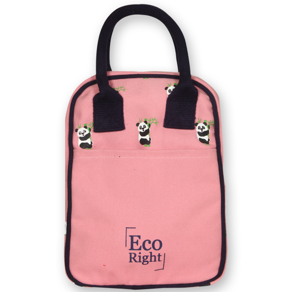 EcoRight Canvas Printed Lunch Tote Bag – Blush (1)