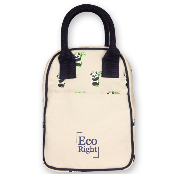 EcoRight Canvas Printed Lunch Tote Bag – Natural (1)