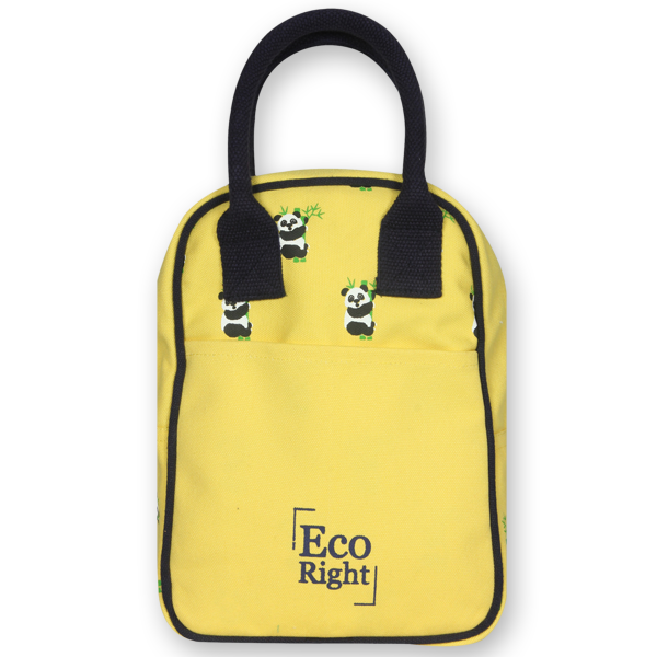 EcoRight Canvas Printed Lunch Tote Bag – yellow (3)