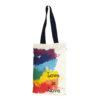 Canvas-premium-zipper-tote-bag-love-is-love-Natural
