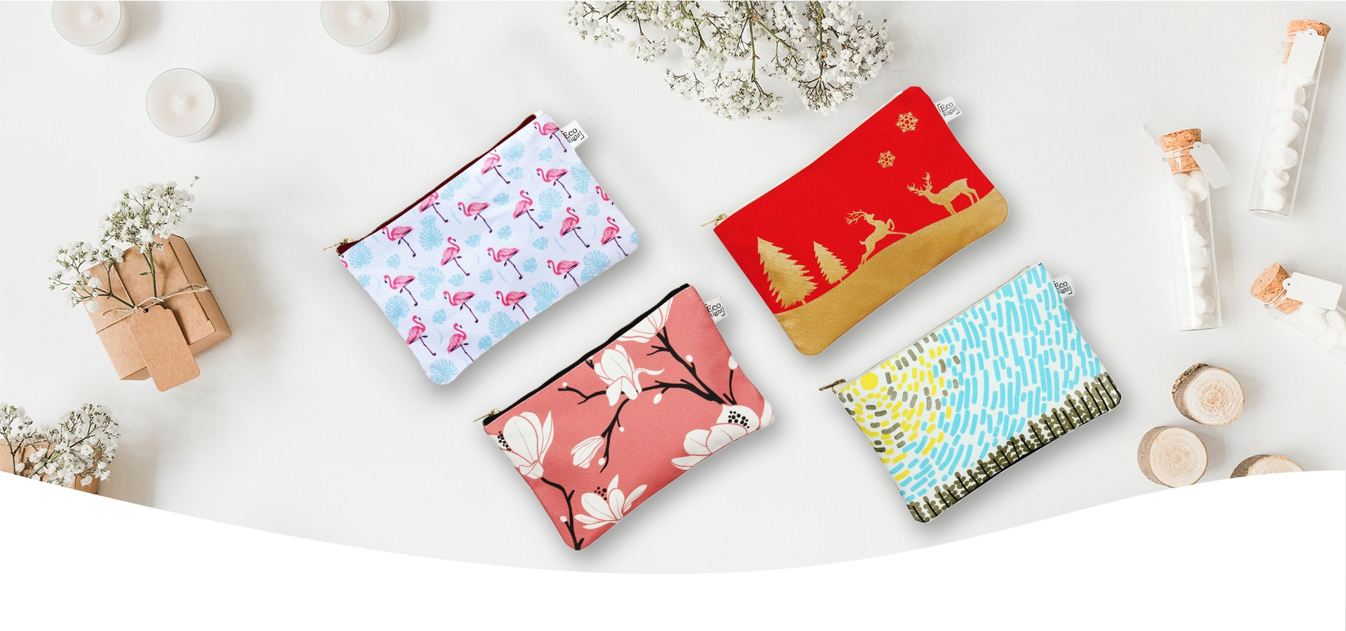Canvas cosmetic pouch- ecorightbags