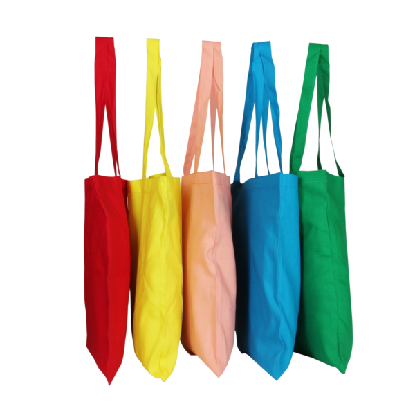 Cotton Tote Bag, - Multi color (Pack of 5)