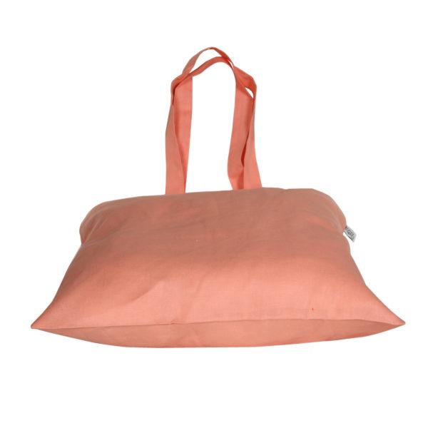 Cotton Tote Bag, - Peach