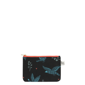 Canvas Cosmetic Pouch, Sparrow - Blue