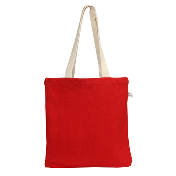 Recycled-Cotton-Tote-Bag- red 1