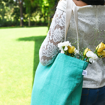 Recycled cotton tote bag- EcoRIght